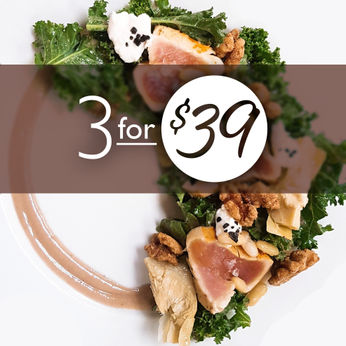 3 courses for $39